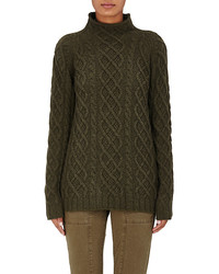 Cashmere cable knit fisherman sweater medium 1211821