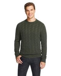 Merona Crew Neck Cable Knit Sweater Elegant Vine Tm