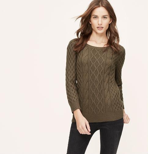 db5902003a ... LOFT Petite Cable Sweater