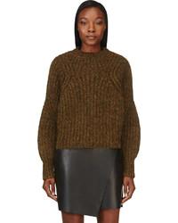 Isabel Marant Olive Marled Knit Sweater