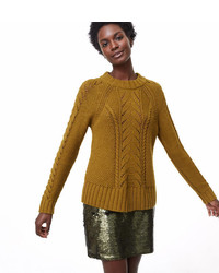 Stitchy cable sweater medium 6860394