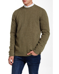 Barbour Weymouth Crew Light Olive Wool Sweater
