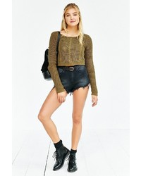 Unif X Uo Cropped Cable Knit Sweater | Where to buy & how to wear
