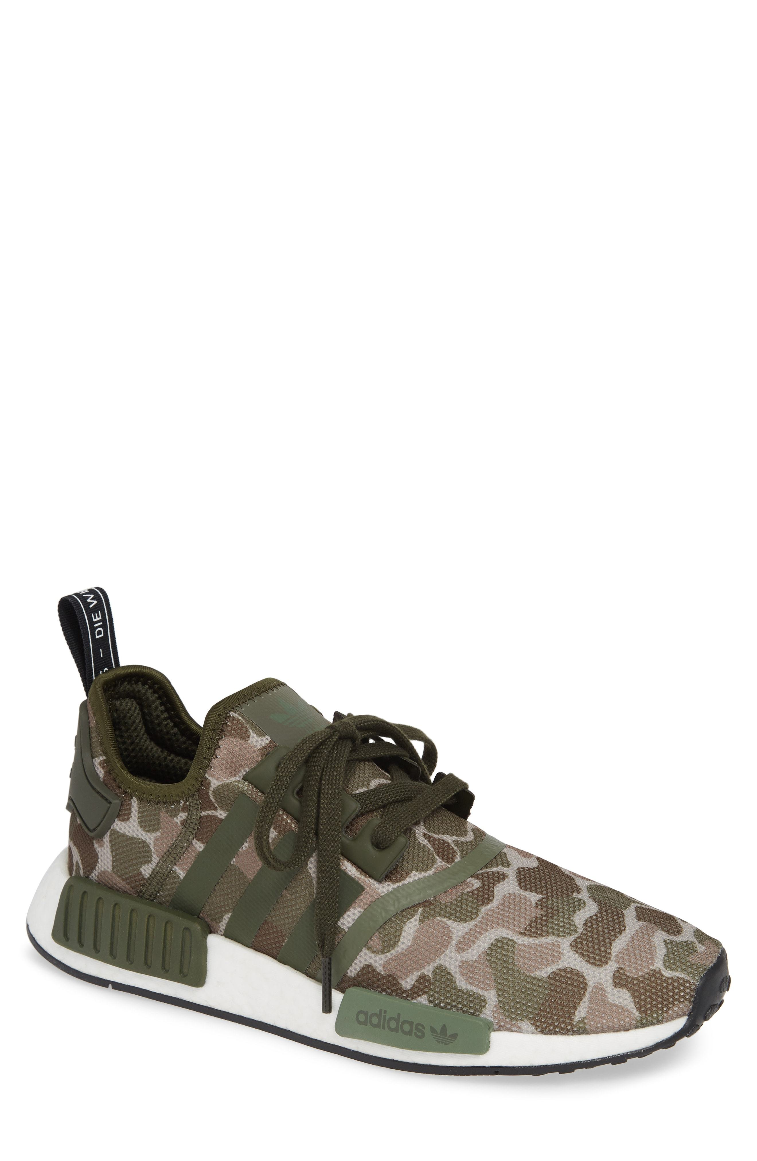 fa11a1c31e7d9 ... Olive Camouflage Athletic Shoes adidas Nmd R1 Camo Sneaker