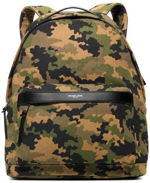 23901588e07a Michael Kors Michl Kors Grant Camouflage Bonded Canvas Backpack ...