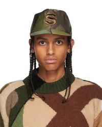 Sacai Green Kaws Edition Camo S Cap