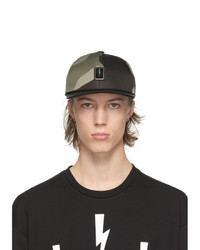Neil Barrett Khaki Camo Bolt Badge Cap