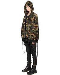 Olive Camouflage Bomber Jacket