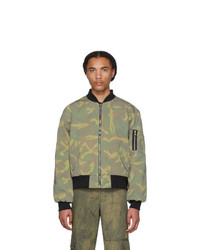 Resort Corps Green T  Bomber Jacket
