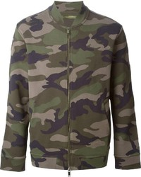 Valentino Camouflage Bomber Jacket