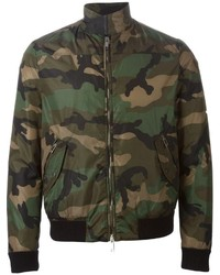 Valentino Rockstud Camouflage Bomber Jacket