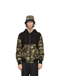 Neil Barrett Khaki Camo Bolt Badge Bucket Hat