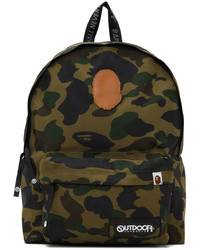 BAPE Green Outdoor Products Edition 1st Camo Day Backpack