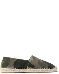 Valentino Camouflage Print Canvas Espadrilles