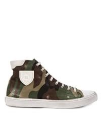 Saint Laurent Bedford Camouflage Sneakers