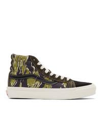 Vans Black And Green Mixed Camo Og Sk8 Hi Sneakers