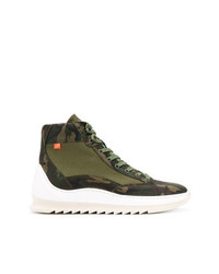 Filling Pieces Camouflage Print High Top Sneakers