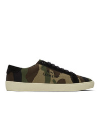 Saint Laurent Green Signa Camo Sl06 Sneakers