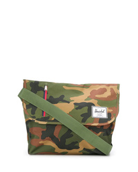 Olive Camouflage Canvas Messenger Bag