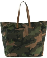 Olive Camouflage Canvas Tote Bag