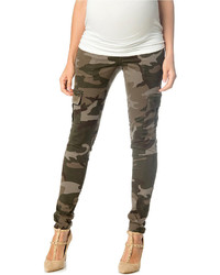 Olive Camouflage Cargo Pants | Women's Fashion