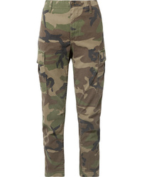RE/DONE Camouflage Print Canvas Tapered Pants