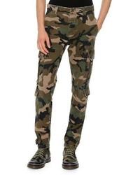 Camouflage twill cargo pants green medium 899566