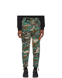 Diesel Green Camo P Luza Cargo Trousers