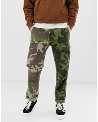 Levi's Hi Ball Skater Tapered Fit 2 Camo Print Cargo Trousers In Green