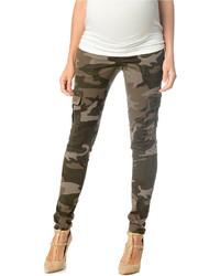 Maternity camo print skinny cargo pants medium 318253