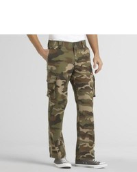 Outdoor Life Camouflage Cargo Pants Green Khaki 32