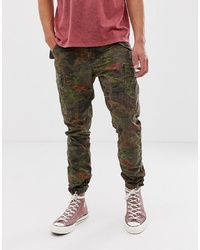 Polo Ralph Lauren Regular Fit Tiger Camo Print Cargo Trousers In Green