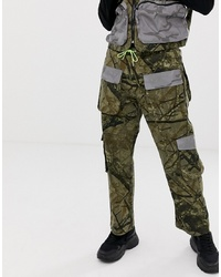 Jaded London Utility Trousers In Camo Print With Reflective Pockets