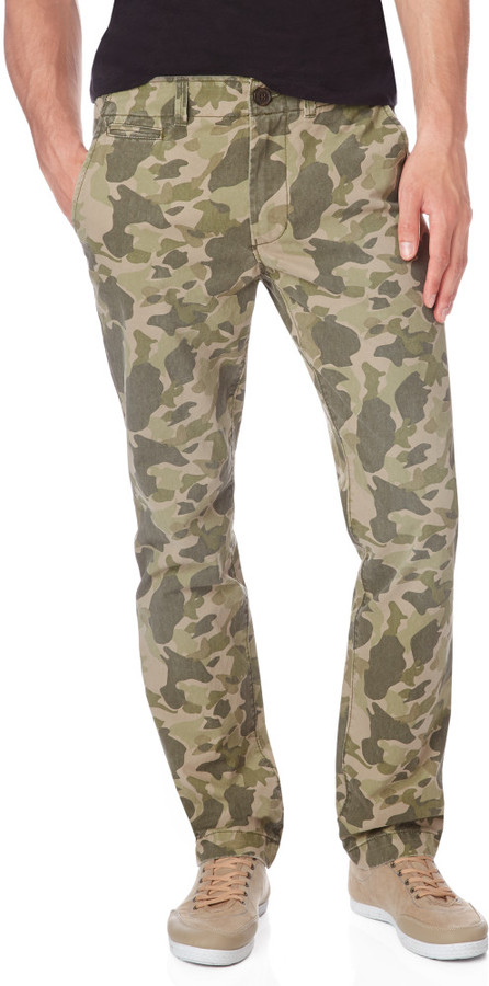 cheap sale details for lace up in Aeropostale Slim Camo Chinos, $49   Aeropostale   Lookastic.com