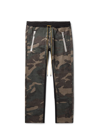 Rhude Tapered Camouflage Print Cotton  Jersey Drawstring Trousers