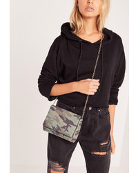 Missguided Camo Clutch Bag Khaki