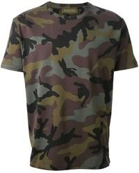 Olive Camouflage Crew-neck T-shirt