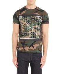 Valentino Camo Logo T Shirt