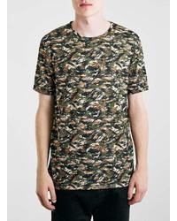 Topman Camo Print T Shirt