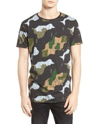 Scotch & Soda Camo Print T Shirt