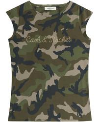 Valentino Cash Rocket Embellished Cotton T Shirt