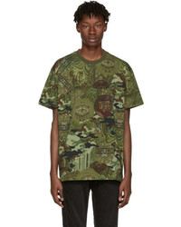 Givenchy Green Camo Money T Shirt