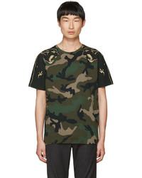 Valentino Green Camo Panther T Shirt