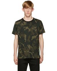 Green camo ringer t shirt medium 713876