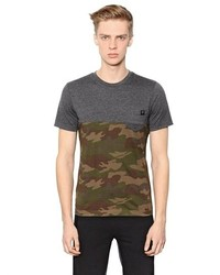 Hydrogen Camouflage Printed Cotton T Shirt