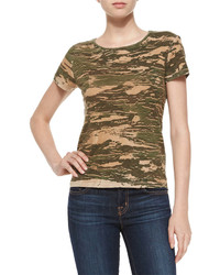 Jeans janetta camo jersey tee jungle green medium 318272