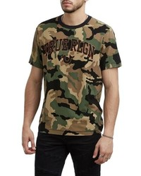 True Religion Brand Jeans Logo Camo T Shirt