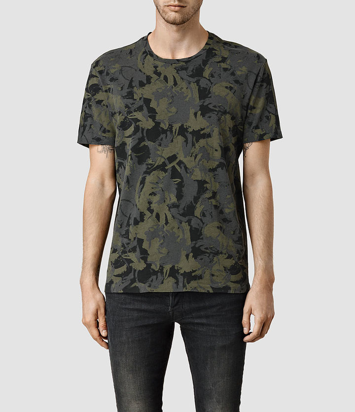 ... AllSaints Painted Camo Crew T Shirt ... aa7201fb0
