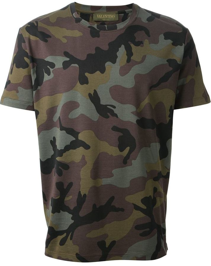 Valentino Camouflage Print T Shirt Where To Buy How To