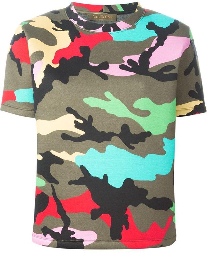 5e9c8954829dc Valentino Camouflage Print T Shirt, $1,690 | farfetch.com ...